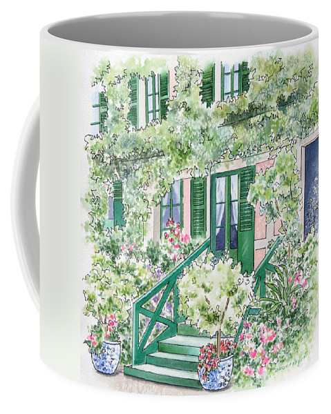 Giverny Coffee Mug featuring the painting Giverny Welcome by Deborah Ronglien