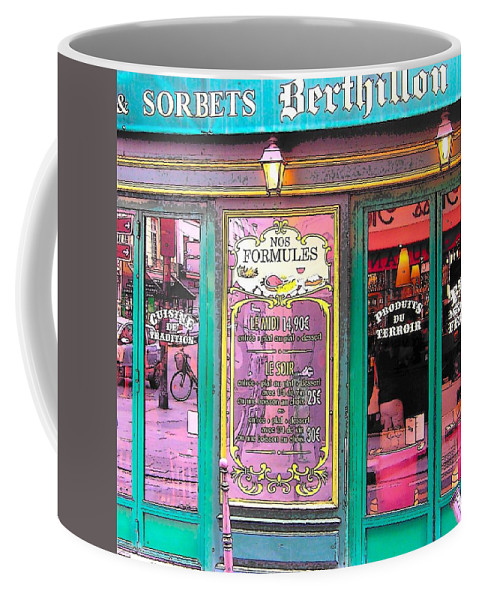 Paris Coffee Mug featuring the photograph Glaces And Sorbets Berthillon by Jan Matson
