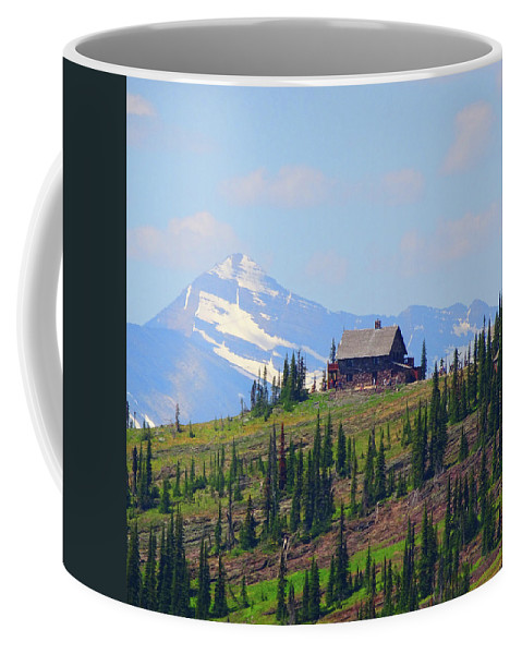 Montana Coffee Mug featuring the photograph Glacier Chalet by Dan Dixon