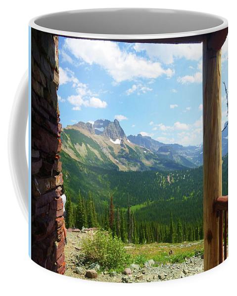 Montana Coffee Mug featuring the photograph Glacier Chalet View by Dan Dixon