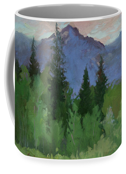 Plein Air Painting Coffee Mug featuring the painting Glacier Nat'l Park - Plein Air - Rising Wolf Ranch by Betty Jean Billups