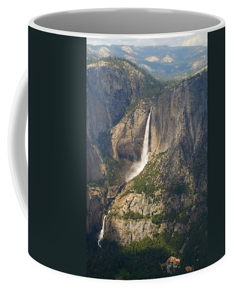 Nature Coffee Mug featuring the painting Glacierpoint Yosemitefalls by YosemiteFalls