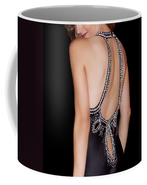 Woman Coffee Mug featuring the photograph Glamour by Donna Blackhall