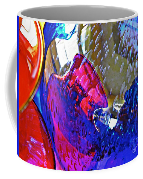 Glass Coffee Mug featuring the photograph Glass Abstract 609 by Sarah Loft
