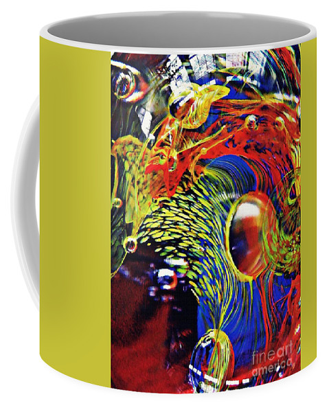 Glass Coffee Mug featuring the photograph Glass Abstract 630 by Sarah Loft