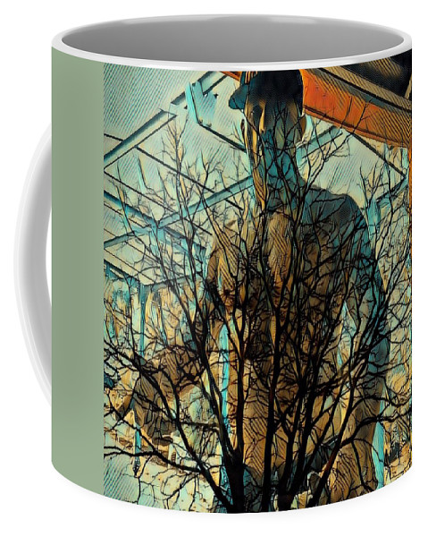 Digital Art And Mixed Media Coffee Mug featuring the digital art Glass And Branches by Lawrence Allen
