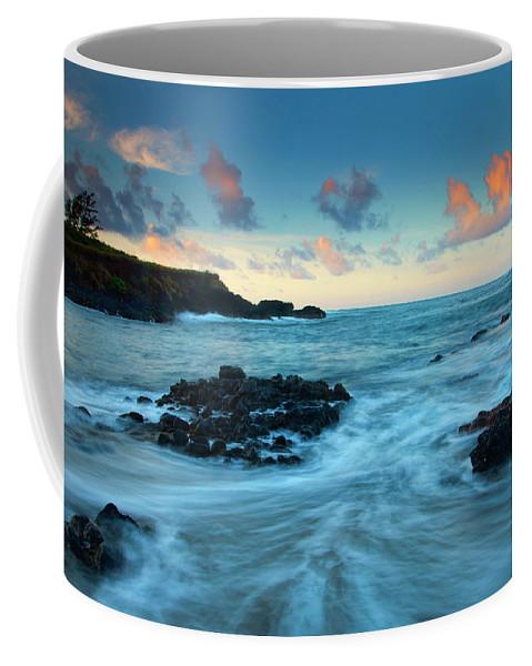 Glass Beach Coffee Mug featuring the photograph Glass Beach Dawn by Mike Dawson