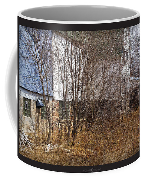 Barn Coffee Mug featuring the photograph Glass Block by Tim Nyberg
