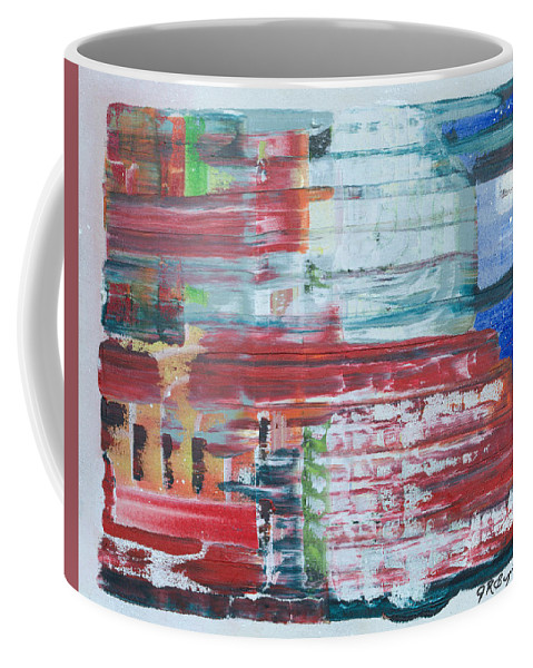 Impressionism Coffee Mug featuring the painting In A New York Minute by J R Seymour