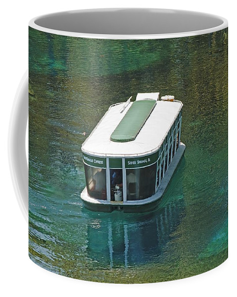 Boat Coffee Mug featuring the photograph Glass Bottomed Boat by Kenneth Albin