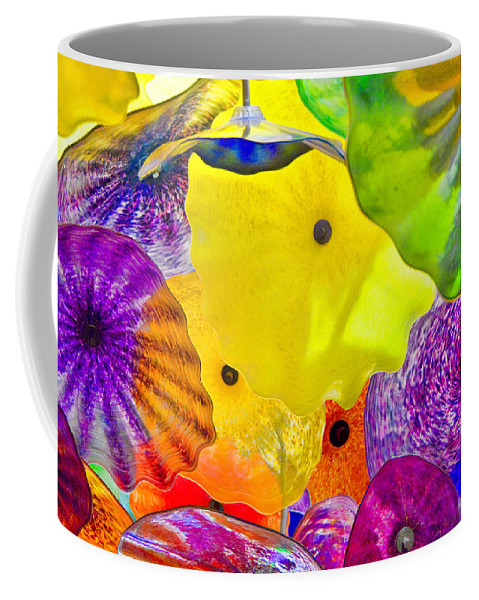 Abstract Coffee Mug featuring the photograph Glass Flowers by Ches Black