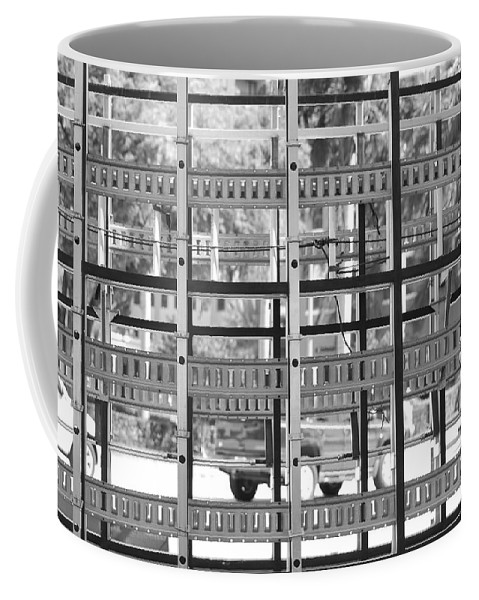 Black And White Coffee Mug featuring the photograph Glass Holders by Rob Hans
