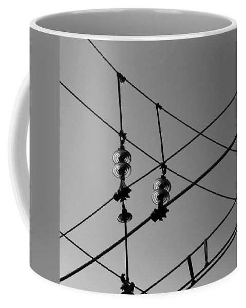 Insulator Coffee Mug featuring the photograph Glass Insulator 1b by Andrew Fare