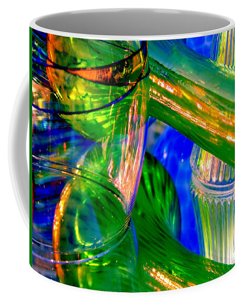Glass Coffee Mug featuring the photograph Glass Menagerie by Donna Blackhall