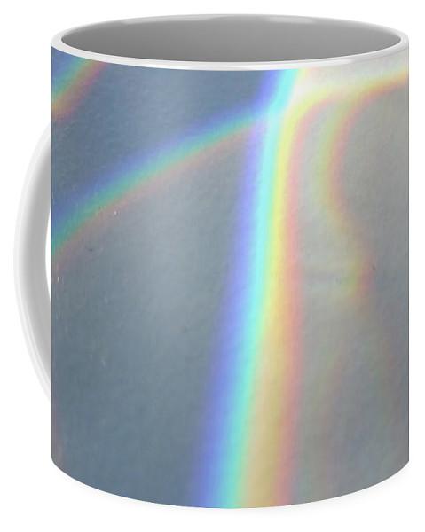 Glass Rainbow Coffee Mug featuring the photograph Glass Rainbow by Laura Hologram