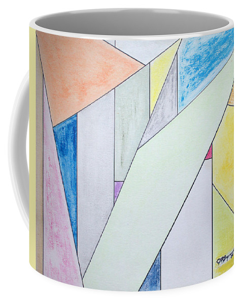 Buildings Coffee Mug featuring the mixed media Glass-scrapers by J R Seymour