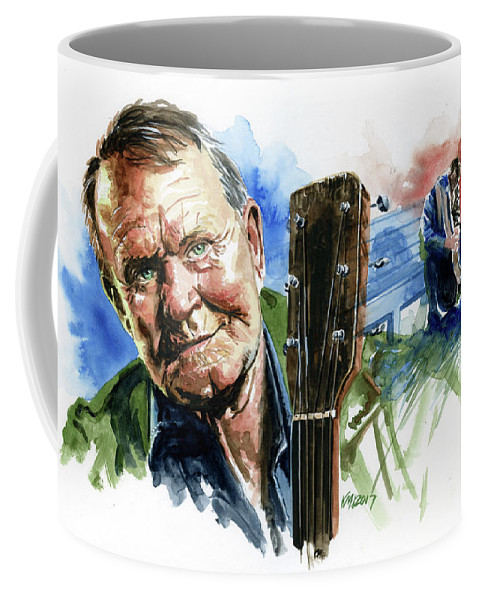 Guitarists Coffee Mug featuring the painting Glen Campbell by Ken Meyer