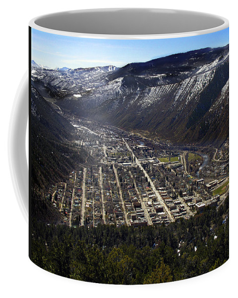 City Coffee Mug featuring the photograph Glenwood Springs Canyon by Marilyn Hunt