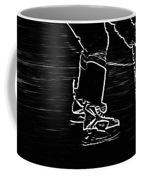 Hockey Coffee Mug featuring the photograph Gliding by Karol Livote