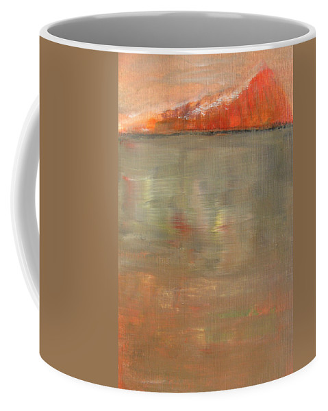 Abstract Landscape Coffee Mug featuring the painting Glimmer by Alina Cristina Frent