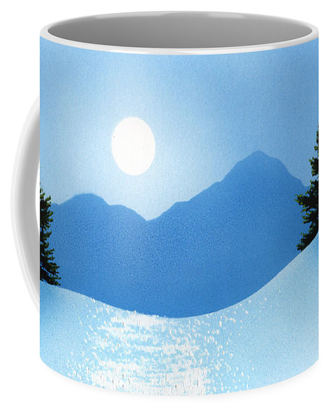 Glistening Snow Coffee Mug featuring the painting Glistening Snow by Frank Wilson