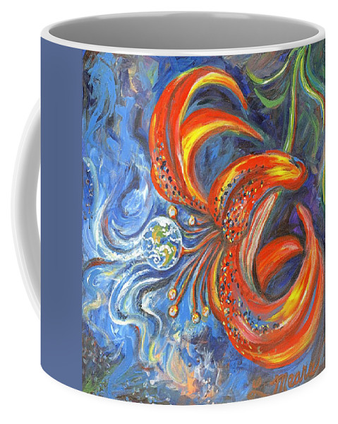 Flower Coffee Mug featuring the painting Global Lily by Linda Mears