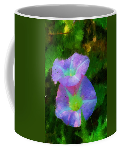 Floral Coffee Mug featuring the painting Gloria In The Shade by David Lane