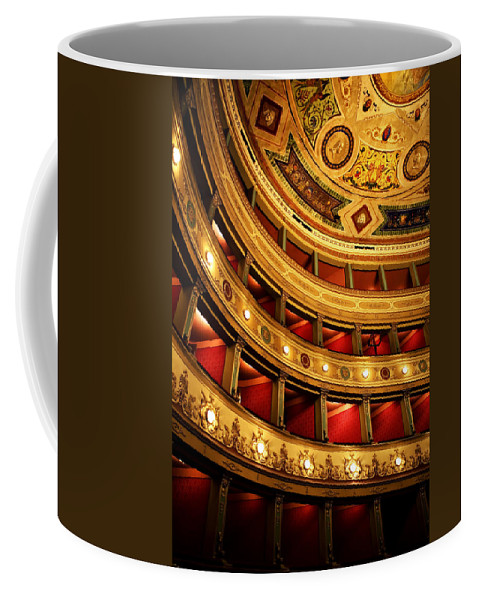 Theatre Coffee Mug featuring the photograph Glorious Old Theatre by Marilyn Hunt