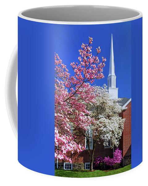 Glorious Sunday Morning In Spring Coffee Mug featuring the photograph Glorious Sunday Morning In Spring by Carolyn Derstine