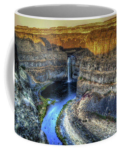 Water Falls Coffee Mug featuring the photograph Glorious Sunset by James Farrell