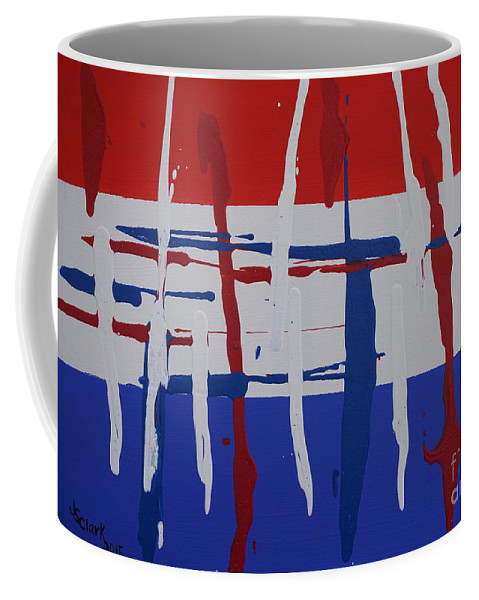 Abstract Coffee Mug featuring the painting Glory by Jimmy Clark