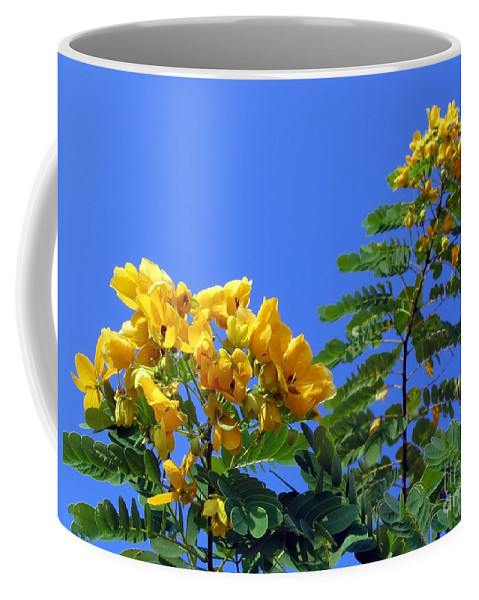 Stamen Coffee Mug featuring the photograph Glossy Shower Senna Tree by Yali Shi