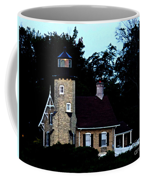 Lighthouse Coffee Mug featuring the photograph Glow In The Dark by Scott Ward