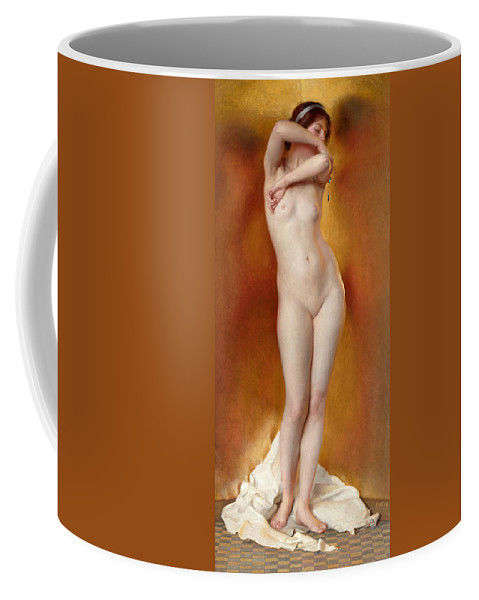 William Mcgregor Paxton Coffee Mug featuring the painting Glow Of Gold. Gleam Of Pearl by William McGregor Paxton