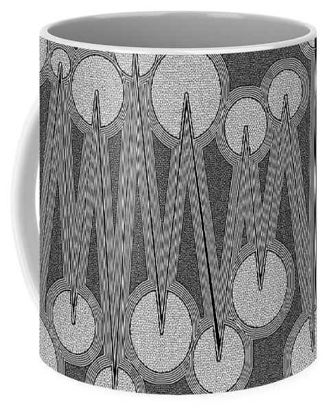 Dynamic Black And White Coffee Mug featuring the painting Glowberries by Douglas Christian Larsen
