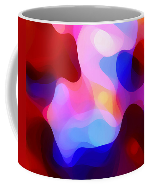 Abstract Painting Coffee Mug featuring the painting Glowing Light by Amy Vangsgard