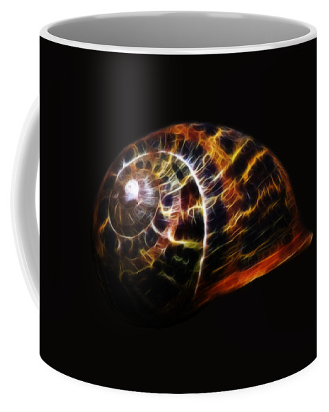 Shell Coffee Mug featuring the photograph Glowing Shell by Shane Bechler