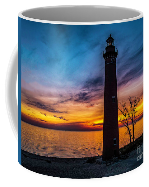 Great Lake Coffee Mug featuring the photograph Glowing Sky At Little Sable by Nick Zelinsky