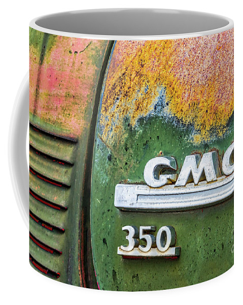 Abandon Coffee Mug featuring the photograph Gmc 350 Tag by Jerry Fornarotto