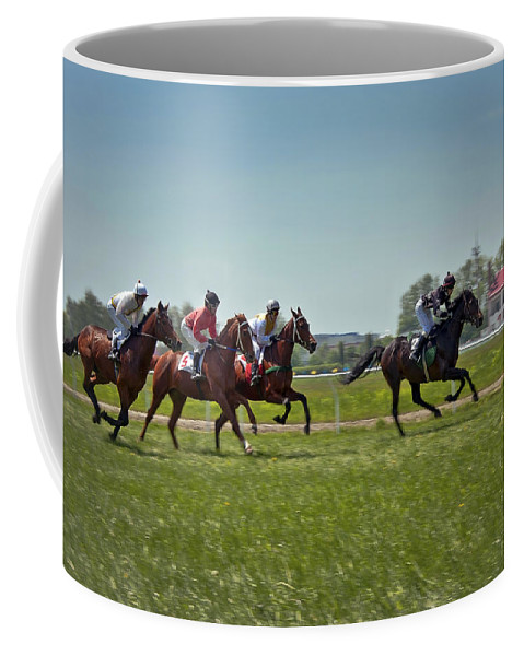 Animal Coffee Mug featuring the photograph Go Baby Go by Evelina Kremsdorf