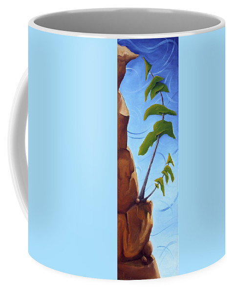 Landscape Coffee Mug featuring the painting Goals by Richard Hoedl