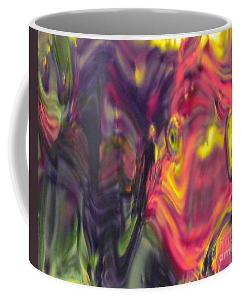 Abstract Coffee Mug featuring the photograph Trickster Goblins of Our Minds by Sybil Staples