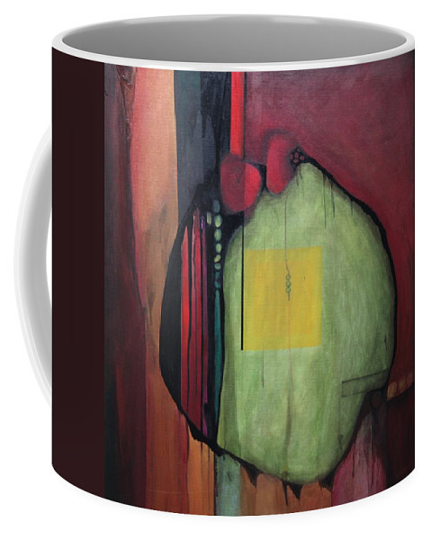 Abstract Coffee Mug featuring the painting Gobs by Marlene Burns