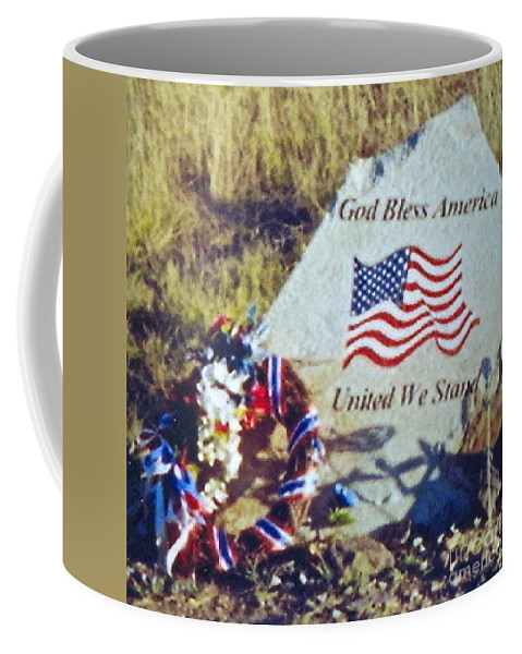Flight 93 Victims Photograph Coffee Mug featuring the photograph God Bless America by Penny Neimiller
