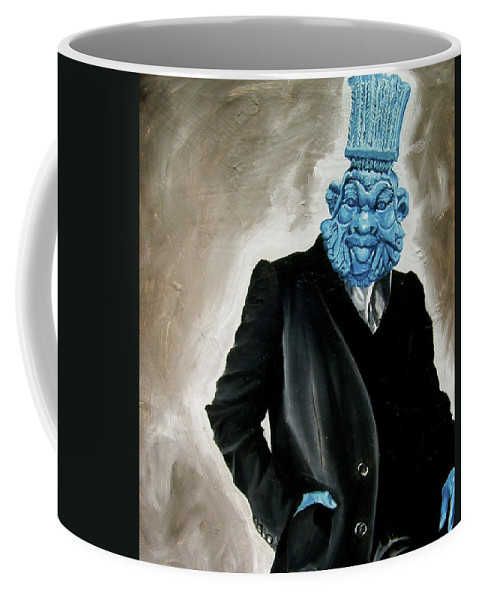 God Coffee Mug featuring the painting God by Laura Pierre-Louis