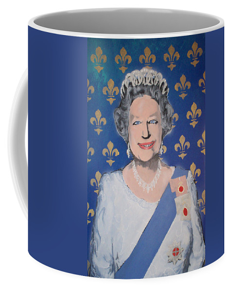 Queen Elizabeth Coffee Mug featuring the painting God Save The Queen by Gary Hogben