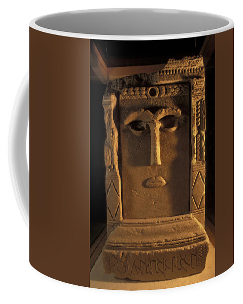 Petra Coffee Mug featuring the photograph Goddess Hayyan Idol From The Temple by Richard Nowitz