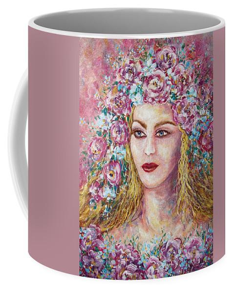 Goddess Of Good Fortune Coffee Mug featuring the painting Goddess Of Good Fortune by Natalie Holland