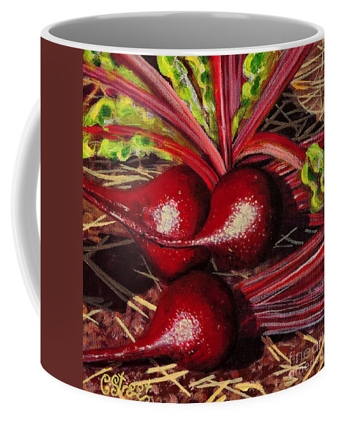 Vegetables Coffee Mug featuring the painting God's Kitchen Series No 2 Beetroot by Caroline Street