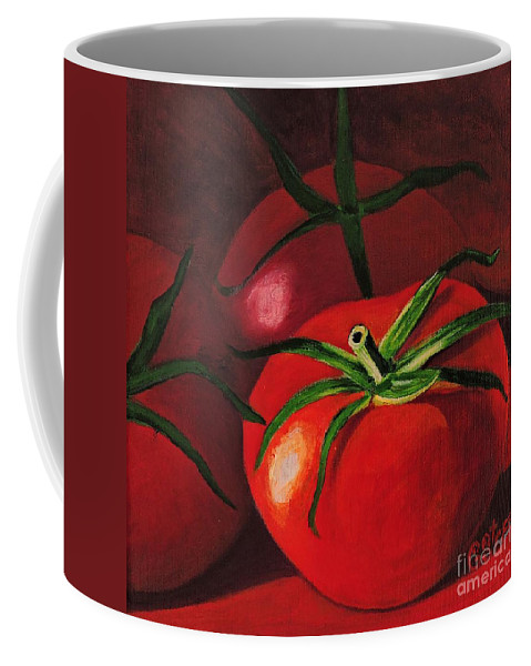Fruit Coffee Mug featuring the painting God's Kitchen Series No 3 Tomato by Caroline Street